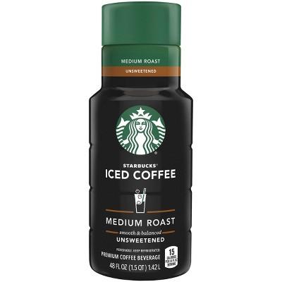 Starbucks Unsweetened Medium Roast Iced Coffee - 48 fl oz