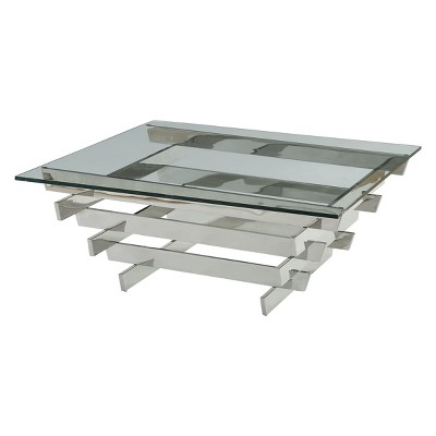 Salonius Coffee Table Clear Glass Sliver - Acme Furniture