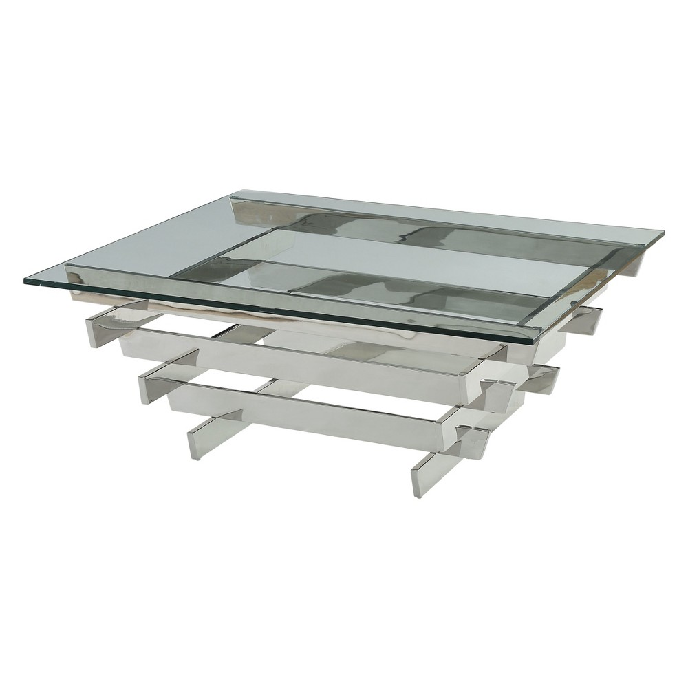 Acme Furniture Salonius Coffee Table Clear Glass Sliver