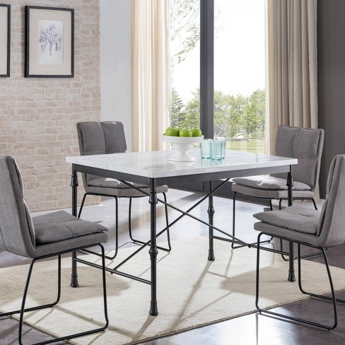 Alma Faux Marble Dining Table White Black Aiden Lane Target