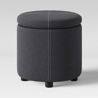 Round Ottoman Gray - Room Essentials™