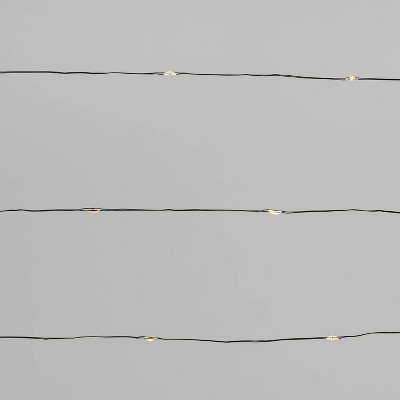 30ct LED Dewdrop String Lights Warm White Twinkling with Green Wire - Wondershop™