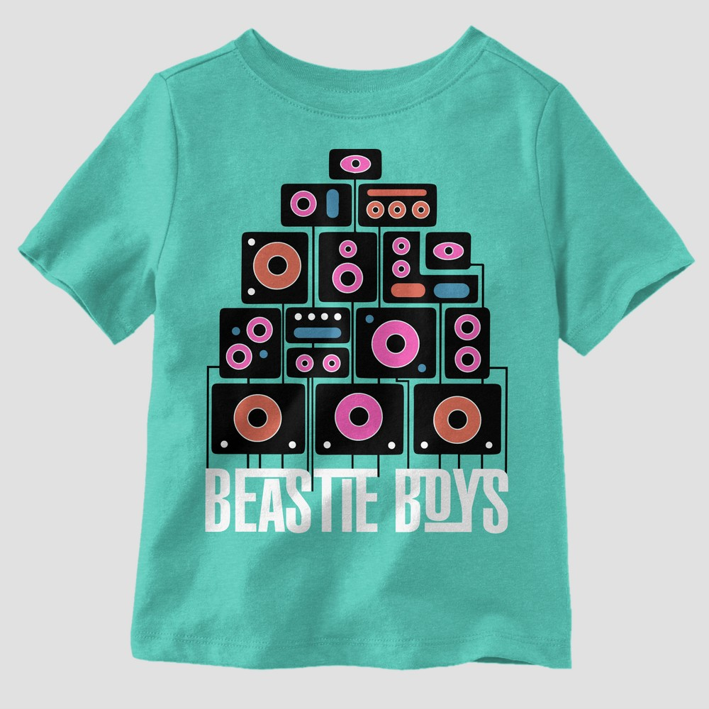 Toddler Boys' Beastie Boys Short Sleeve T-Shirt - Aqua 5T, Green