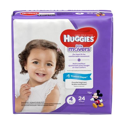Huggies Little Movers Diapers - Size 4 (24ct)