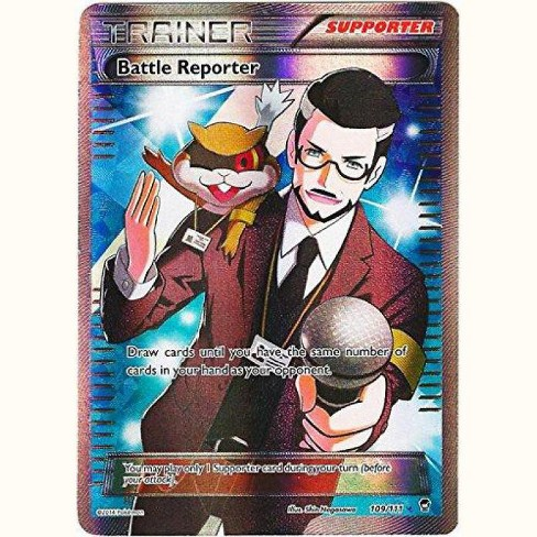 Pokemon X and Y Furious Fists Ultra Rare Full Art Battle Reporter #109 - image 1 of 1