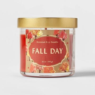 Lidded Glass Jar Fall Day Candle - Opalhouse™