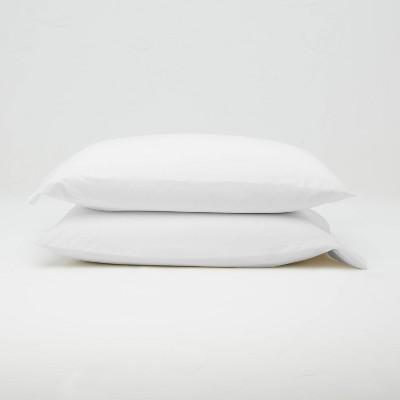 Standard Jersey Solid Pillowcase Set White - Casaluna™