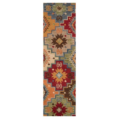 Geometric Tufted and Hooked Runner 2'3 x8' - Momeni