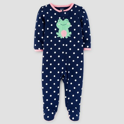 Baby Girls' Cotton Dot Frog Sleep N' Play - Just One You™ Made by Carter's® Navy Newborn