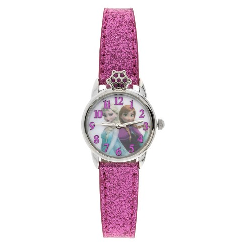 Women's Disney® Frozen Analog Watch with Crystal Detail - Pink - image 1 of 1