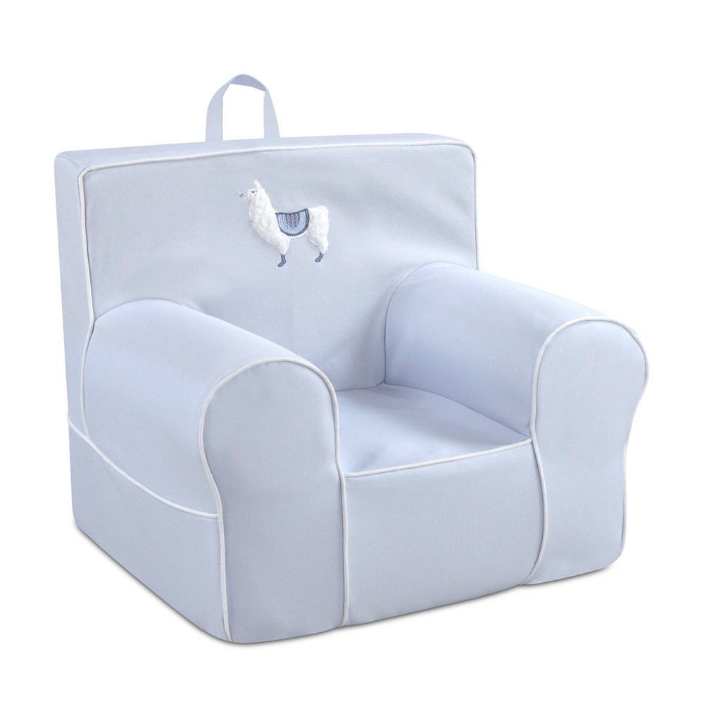 Image of Applique Kid's Foam Chair with Handle Blue - Kangaroo Trading Company