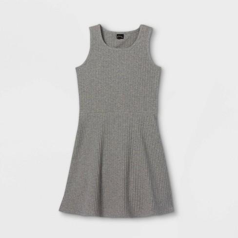 Girls' Tank Scoop Neck Rib-Knit Skater Dress - art class™ - image 1 of 2