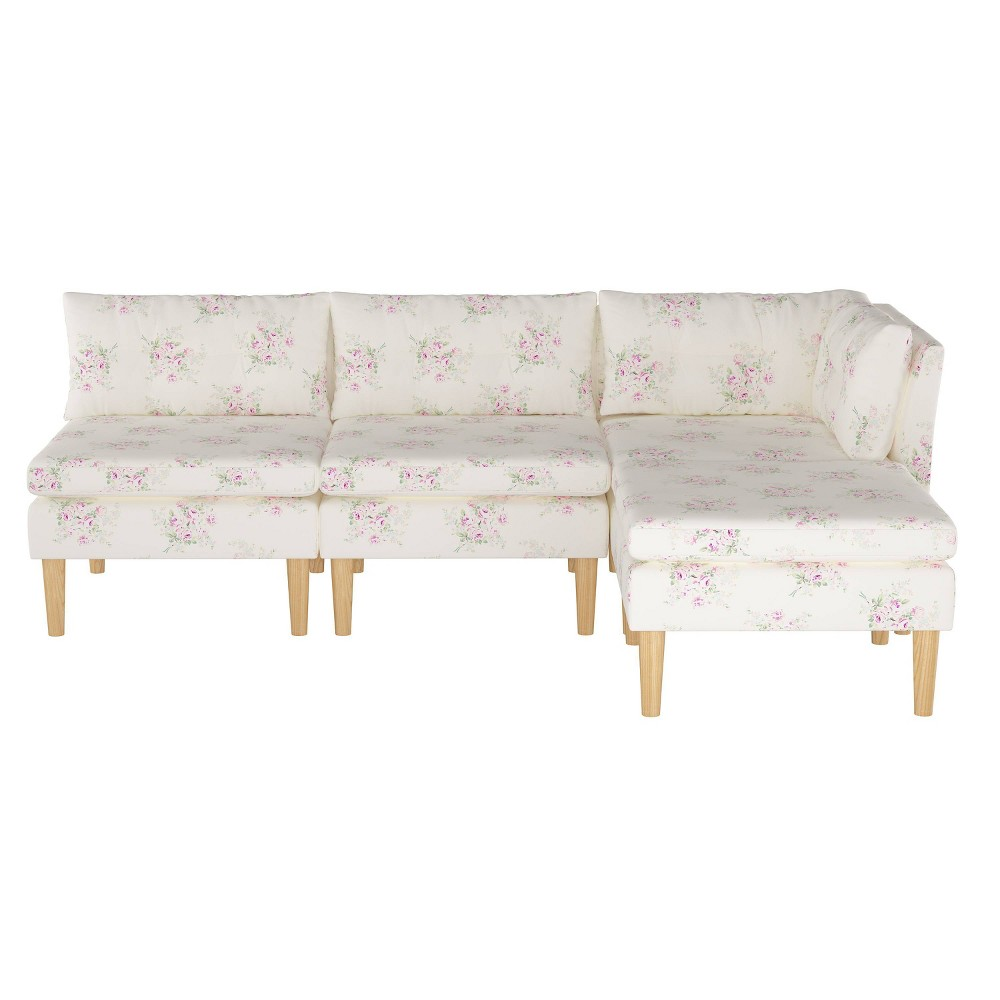 Image of 4pc Sectional Bella Pink - Simply Shabby Chic