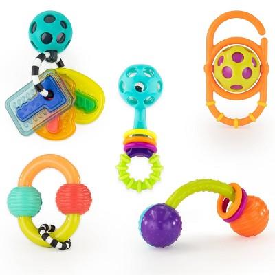 Sassy Toys Shake Rattle & Chew Gift Set - 5pc