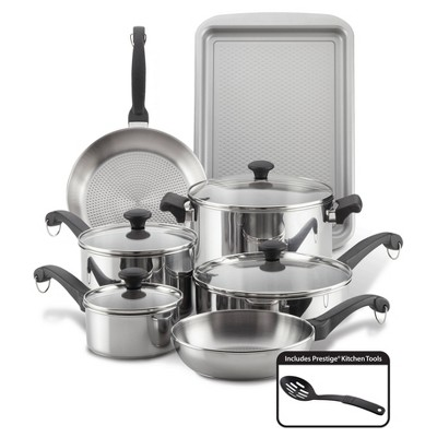 Farberware Classic Traditions 12pc Stainless Steel Cookware Set