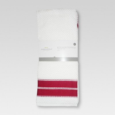 4pk Dish Towel Red - Threshold™