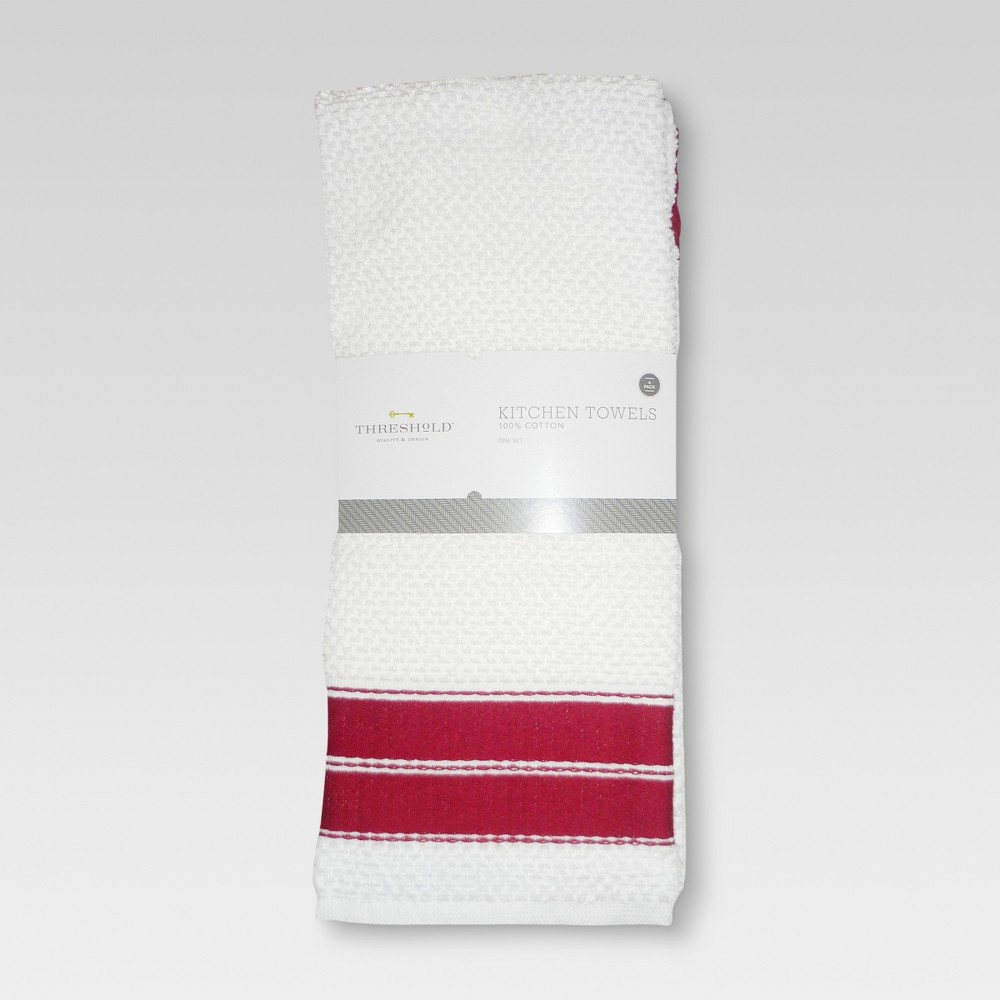 Image of 4pk Dish Towel Red - Threshold