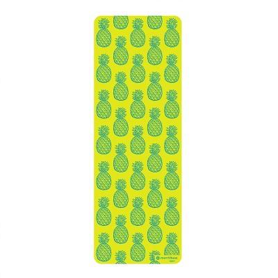 STOTT PILATES Pilates & Yoga Mat, Pineapples - Green (6mm)