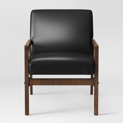 Peoria Wood Arm Chair Black Ships Flat - Project 62™