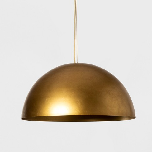 Metal Dome Extra Large Pendant Lamp Gold Includes Energy Efficient Light Bulb Project 62 Leanne Ford