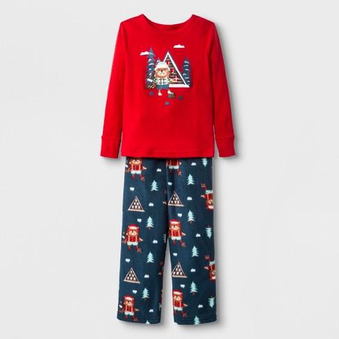 Toddlers  2pc Beaver Pajama Set - Cat   Jack™ Red 2T   Target ba3c99a22