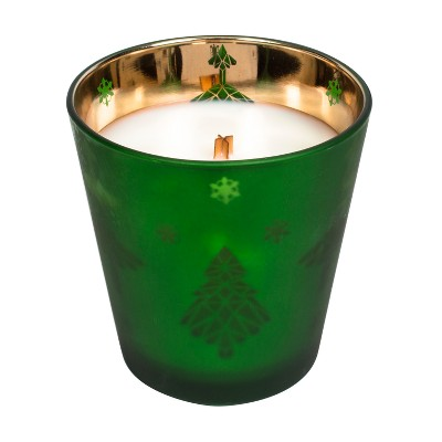 Jar Candle Flicker Holiday Wreath - 12oz - Nature's Wick