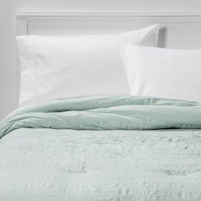 King Crinkle Texture Comforter Mint - Room Essentials™