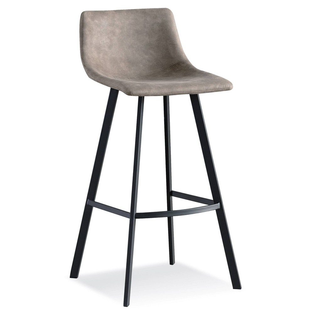 Set of 2 Favorite Finds Bar Stool Black/Dapple Gray - Leick Home