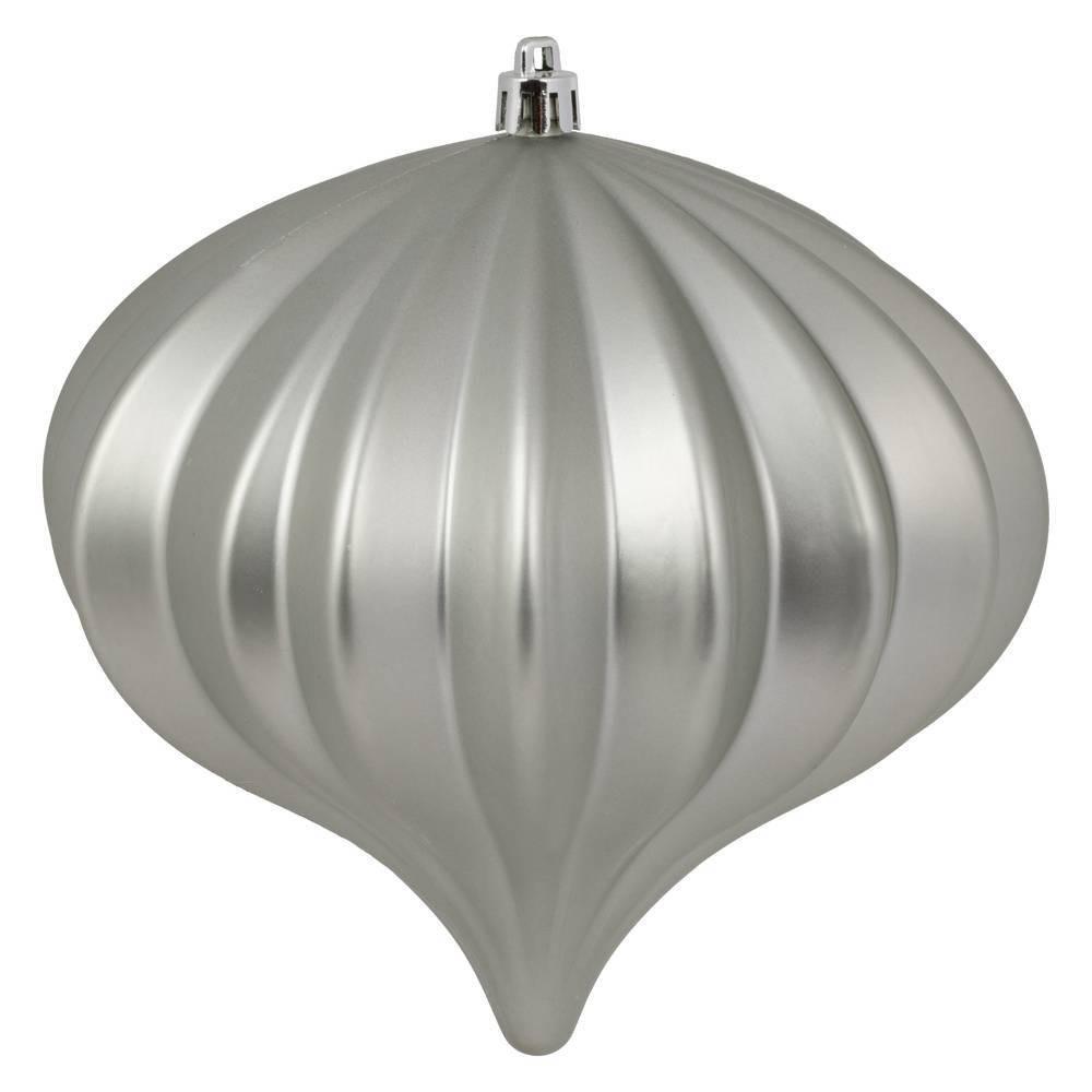 "Image of ""3ct Vickerman 5.7"""" Matte Onion Ornament, UV Coated Ornament Set Limestone"""