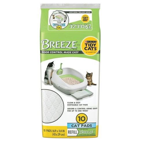 Purina Tidy Cats Cat Pads BREEZE Refill Pack - 10ct Pouch - image 1 of 4