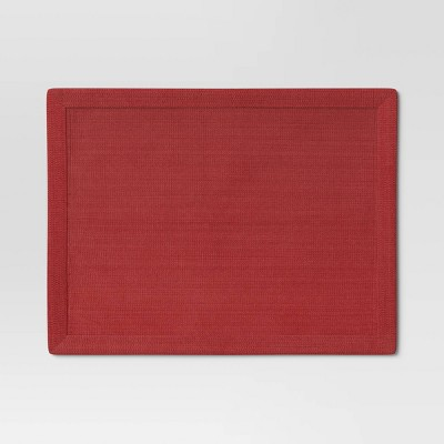 Cotton Solid Placemat Red - Threshold™