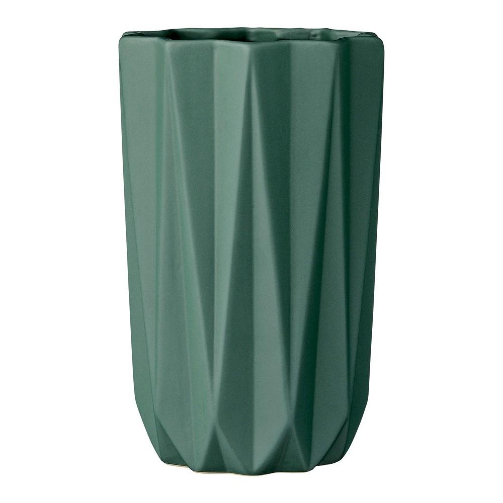 Ceramic Vase - Dark Green (5) - 3R Studios