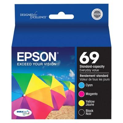 Epson 69 4pk Combo Ink Cartridges - Black/Cyan/Magenta/Yellow (T069120BCS)