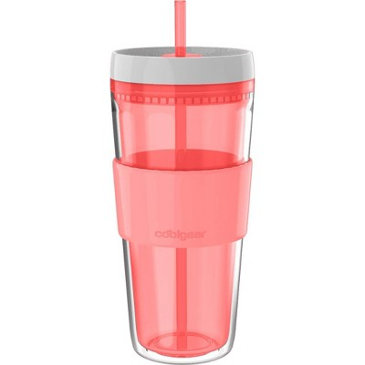Cool Gear 24oz Callisto Double Walled Gel Tumbler with Band Coral