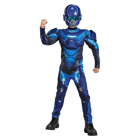 Halo Blue Spartan Classic Muscle Kids' Costume - image 1 of 1