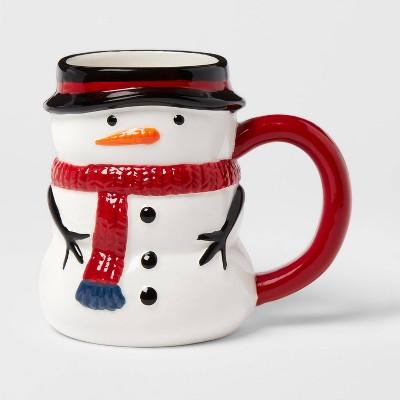 13oz Earthenware Snowman Christmas Mug - Threshold™