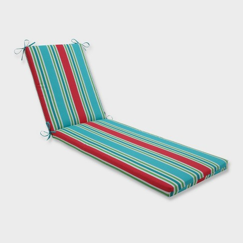 """80"""" x 23"""" x 3"""" Aruba Stripe Chaise Lounge Outdoor Cushion Blue - Pillow Perfect - image 1 of 2"""
