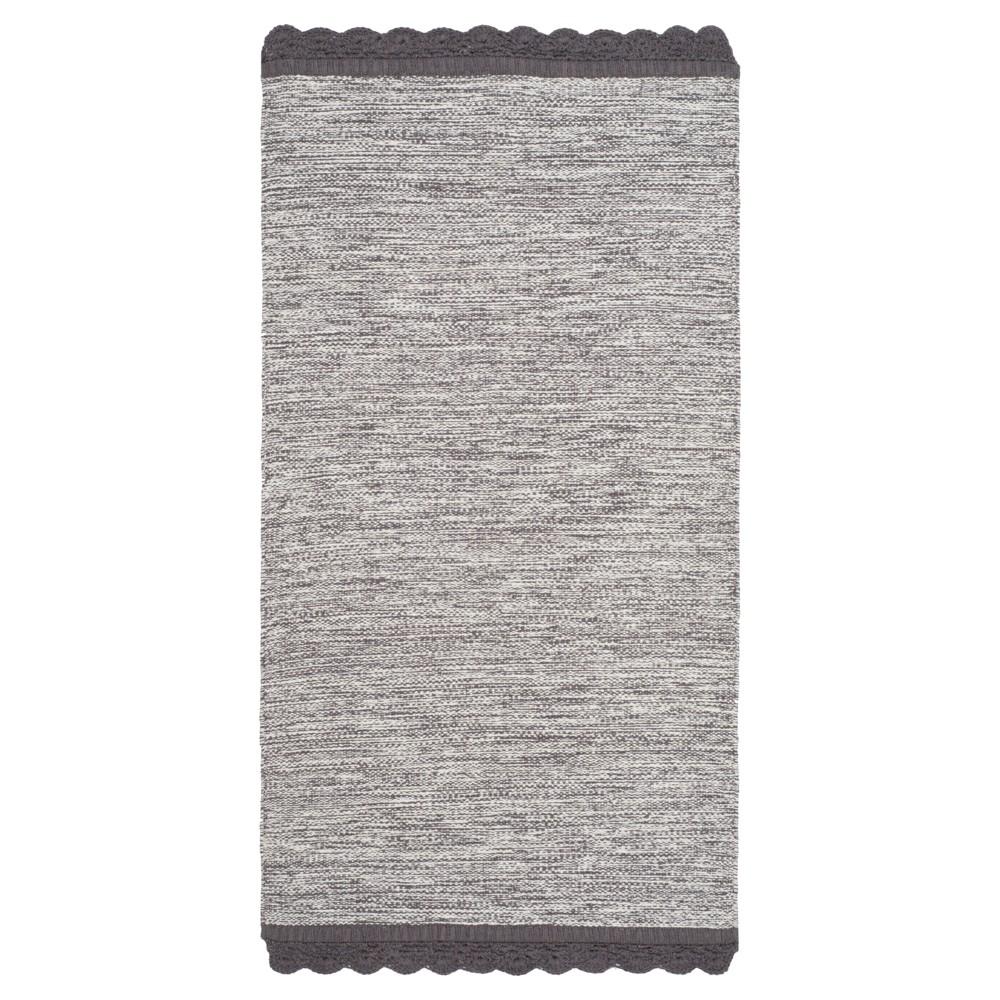 Charcoal (Grey) Spacedye Design Woven Area Rug 8'X10' - Safavieh