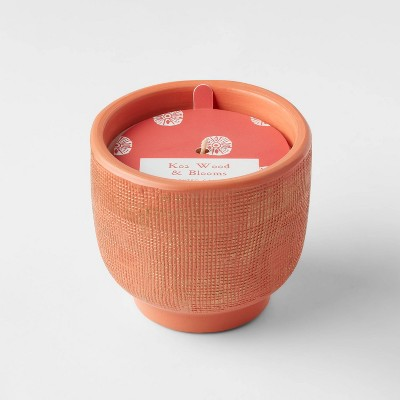8.5oz Global Terracotta Jar Koa Wood and Blooms Candle - Opalhouse™