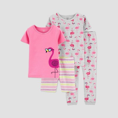 Baby Girls' 4pc Flamingo Pajama Set - Just One You® made by carter's Pink 18M