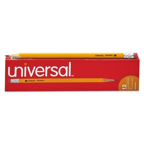 Universal 12pk #2 Woodcase Pencil Yellow - image 1 of 7