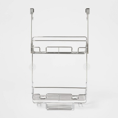 Over the Door Round Wire Shower Caddy Chrome - Made By Design™