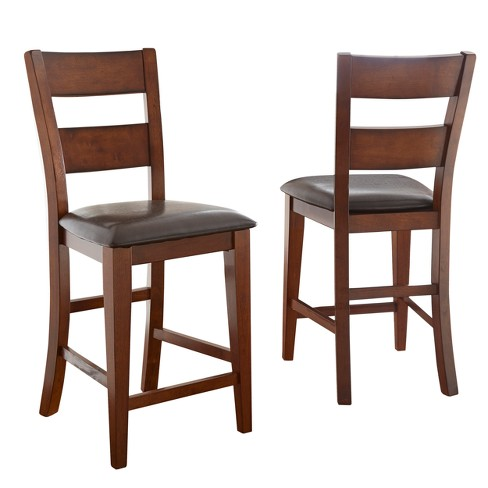 Astounding Dion Counter Chair Cherry Set Of 2 Steve Silver Squirreltailoven Fun Painted Chair Ideas Images Squirreltailovenorg
