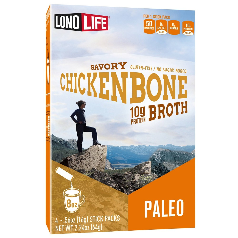 LonoLife Bone Broth Chicken Stick - 4pk