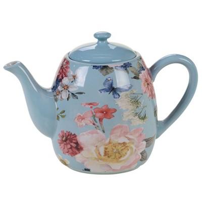 40oz Earthenware Spring Bouquet Teapot - Certified International