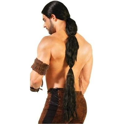 Forum Novelties Medieval Fantasy Men's Warrior Black Costume Wig
