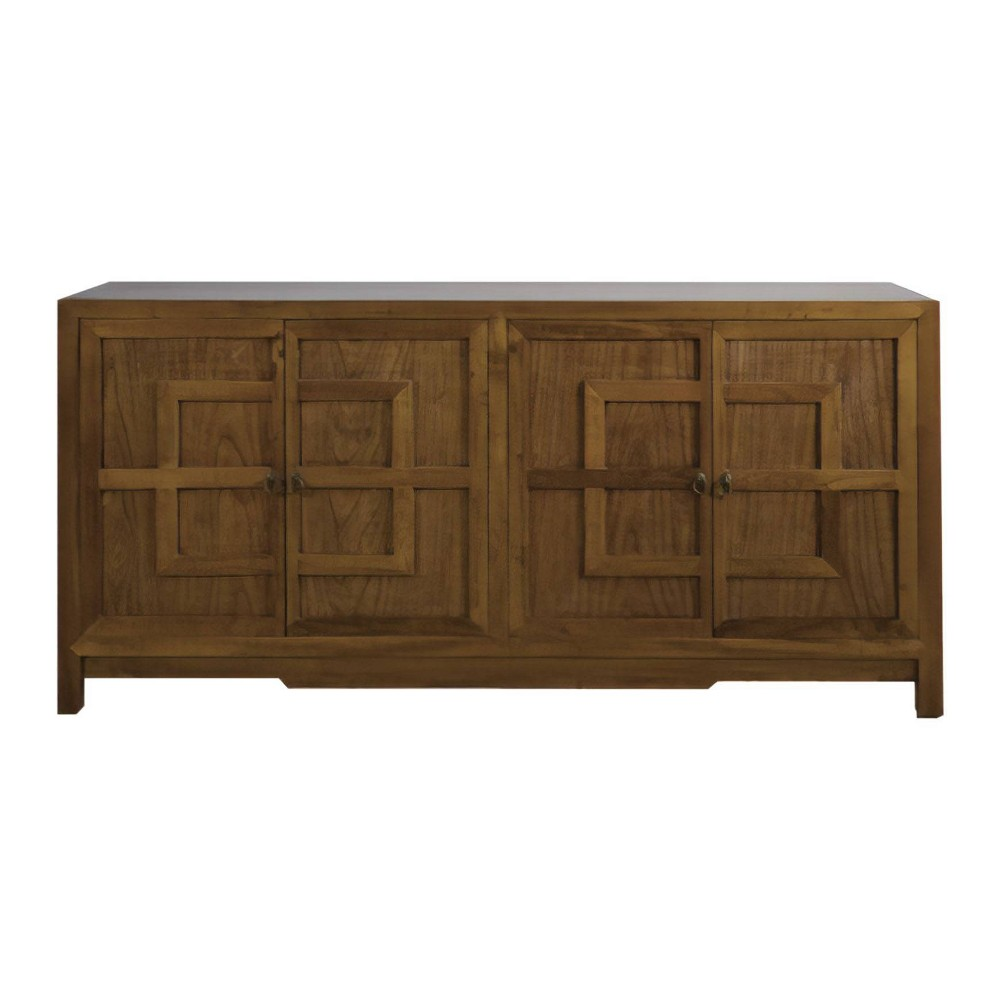 Rafi Wood Side Cabinet Buffet Brown - Abbyson Living, White Brown Black