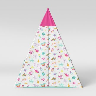 Kids Tent Doodles Pink/Aqua - Pillowfort™