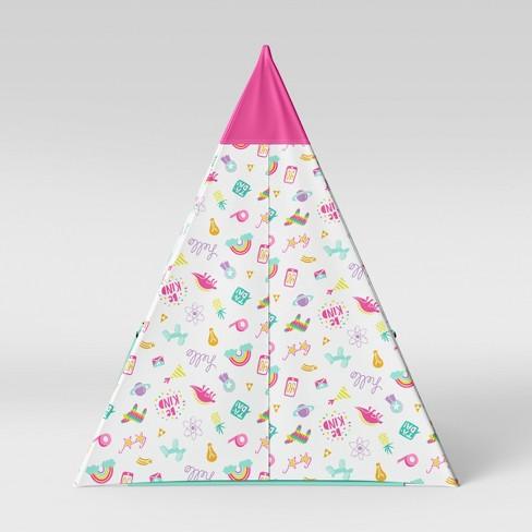 watch 14a9d c3568 Kids Teepee Doodles Pink/Aqua - Pillowfort™