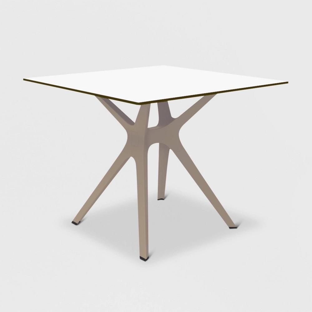 Vela S Square Patio Table - Sand (Brown) - Resol